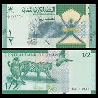 Oman 1/2 (0.5) Rials, 2020/2021, P-New, Prefix W/1, Banknote, UNC
