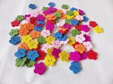 50 un. de madera 20 mm Amor/Flor 2 Agujeros Coser en los botones: Vestido/Cardmaking mezclado Cols
