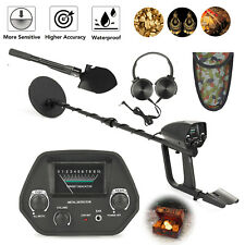 Deep Sensitivity Metal Detector Shovel Kits Gold Digger 2 Modes Waterproof Coil