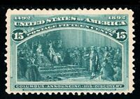 USAstamps Unused FVF US 1893 Columbian Expo Announcing Discovery Scott 238 NG