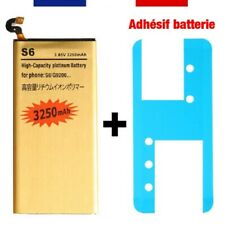 High capacity battery + adhesive sticker for samsung galaxy s6 s7 s8 edge plus
