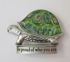 J Be proud of who you are Turtle BLESSINGS FIGURINE MINIATURE hippie ganz