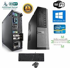 FAST Dell Optiplex PC DESKTOP i5 2500 Quad 3.3GHz 8GB 1TB Windows 10 hp 64 WIFI