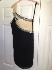 Forever Unique black and Nude Jewelled cocktail Dress Size 12