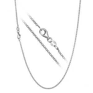 925 Sterling Silver Italian Rolo Link Cable Chain Necklace CHOOSE WIDTH & LENGTH