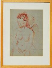 Ölbild Öl Nini Consolaro Frau Akt Frauenakt 1981 Sammlung Karl Schott 42 x 32 cm