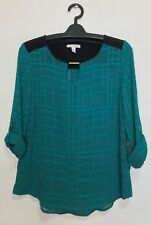 AUTHENTIC DANA BUCHMAN WOMEN'S BLOUSE - LUCKY SHOT - SMALL
