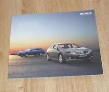 Honda Accord Saloon Tourer Brochure 2010 - 2.0 2.4 VTEC 2.2 DTEC ES GT EX Type S