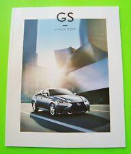 2019 LEXUS GS SPORT SEDAN DLX COLOR CATALOG Brochure 44-pg GS 300 + GS 350 Mint
