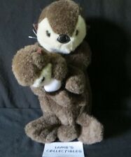 Sea Otter Mom & Baby plush Ocean Animal wildlife K & M International Inc 16""