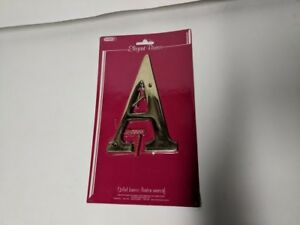 "TAYMOR ELEGANT SOLID BRASS 6"" HOUSE LETTER ""A""   NEW IN PACKAGE / OLD STOCK   A"