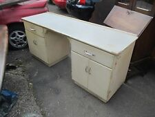 Large 1950's Kitchen Cabinet Work Top Desk 2 Cupboards 2 Drawers May Deliver