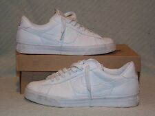 Men's Size 9.5 Nike Sweet Classic Leather White Walking Athletic Shoe 318333-114
