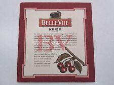 Beer Bierdeckel Coaster ~ BELLE-VUE Kriek ~ Sint-Pieters-Leeuw, BELGIUM Brewery