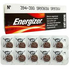 10 x Energizer Silver Oxide 394 380 batteries 1.55V SR45 SR936SW Watch EXP:2020