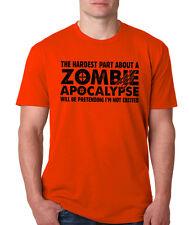 HARDEST PART ABOUT ZOMBIE APOCALYPSE T-Shirt horror walking dead hallowween