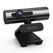 Webcam 1080P Full HD, Jelly Comb Computer Webcam USB Web Camera with Built-in