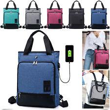 Anti-Theft USB Shoulder Bag For Laptop Tablet School Travel Notebooks Dell HP UK