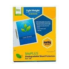 100 pcs Marbig A4 bioplus sheet protectors
