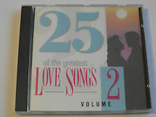 25 Of The Greatest Love Songs Volume 2 (CD Album) Used Very Good