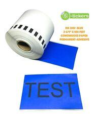 1 - 10 Rolls DK-2205 Brother Compatible Continuous Color BLUE Labels Cartridge