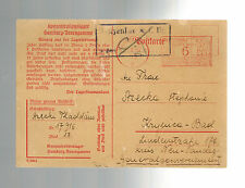 1943 Germany Neuengamme Concentration Camp Metered Cover Thaddaus Stzecki Poland