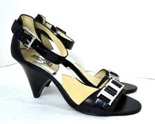 NEW MICHAEL BY MICHAEL KORS BLACK GENUINE LEATHER SHOES SIZE 7 M