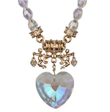 KIRKS FOLLY ALL HEARTS COME HOME MAGNETIC NECKLACE  goldtone cherub angels