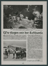 Or. Photo report Lufthansa DLH SCADTA Deruluft Condor Junkers technology occupations 1936