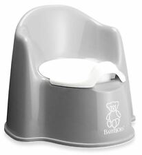 Gray Potty Seat Toilet Training Ergonomic Comfort Toddler Chair Children Trainer