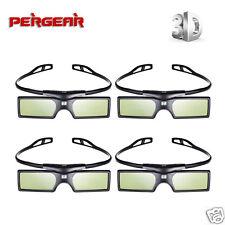 US 4pcs 3D DLP-Link Bluetooth Active Shutter Glasses F Optoma BenQ LG Projector