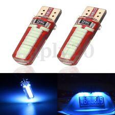 2 Lampade T10 W5w 24 Led Smd Canbus No Errore Luci Targa Post Posizione Blu 7w
