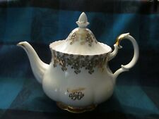 Royal Albert Gold Gilt Congratulations 50th Anniversary 6 cup Bone China Teapot