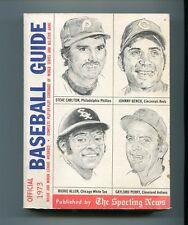 VINTAGE BASEBALL OFFICIAL BASEBALL GUIDE 1973 EDITION THE SPORTING NEWS