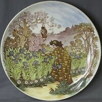 RARE FRENCH POTTERY CHOISY LE ROI PLATE BY LOUIS MIMARD, ALPHONSE MUCHA STYLE