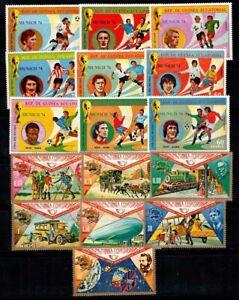 Equatorial Guinea 1974 Mi. 382-88, 371-79 MNH 100% Sport, Space