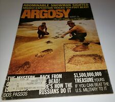 Vintage Argosy Magazine Abominable Snowman Sighted August 1971 Bigfoot Rare