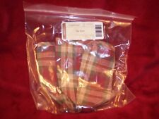 Longaberger SMALL KEY LINER ORCHARD PARK PLAID - RETIRED