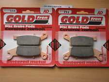 SINTERED FRONT BRAKE PADS For YAMAHA YFM 700 GRIZZLY (AD252 AD253) (FA443 FA444)