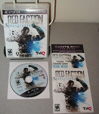 RED FACTION Armageddon PlayStation 3 Shooter w/Online Co-op SyFy Games Volition
