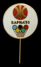 Moscow 1980 Pre-Olympic Basketball Tournament in Varna, Bulgaria  Olympic pin