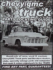Find Chevy Pickup Truck parts with this book 1956 1957 1958 1959 1960 1961 1962
