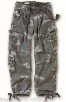 Surplus Aereo Pantaloni Stile Militare da Uomo Esercito Vintage Cargo Nite Camo