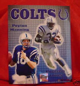 Indianapolis Colts Peyton Manning Edgerrin James Photo