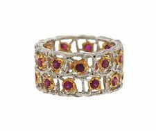 Buccellati 18K Gold Ruby Eternity Band Ring