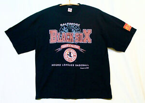 New AAA NEGRO LEAGUE BASEBALL T-Shirt Baltimore Black Sox Men 3XL Black