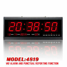 Digital Large Big Jumbo LED Wall Desk Alarm Clock With Calendar Temperature