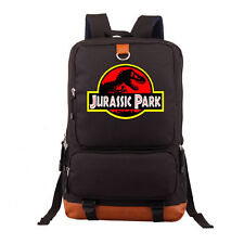 Jurassic World Jurassic Park Backpack Shoulder Laptop travel bag Rucksack :Jd
