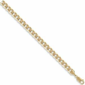 9ct Yellow Gold 22 Inch 8mm Flat Curb Chain