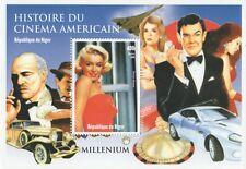 MARILYN MONROE JAMES BOND MARLON BRANDO storia cinematografica 1999 MNH STAMP SHEETLET